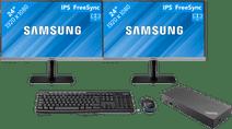 """Dual setup voor thuis 24"""" - 2x Samsung LS24R650 met Usb A + C dock"""