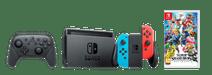 Nintendo Switch Rood/Blauw Competitieve Gamer Bundel