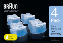 Braun reinigingsvloeistof Clean & Renew cartridges (4 stuks)
