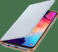 Samsung Galaxy A50 Wallet Book Case White / Orange