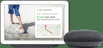 Google Nest Hub Charcoal + Google Nest Mini Grijs