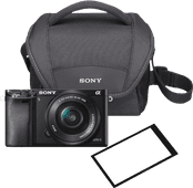 Sony A6000 Noir + PZ 16-50 mm OSS + sacoche + protège-écran
