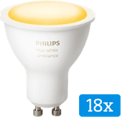 Philips Hue White Ambiance GU10 Bluetooth Lot de 18