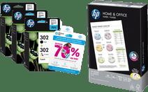 HP 302 Combo Packs + 500 feuilles de papier