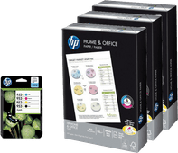 HP 953XL Cartridges Combo Pack + 1.500 vellen A4 papier