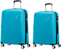 American Tourister Visby Spinner 66cm + 76cm Light Blue Suitcase Set