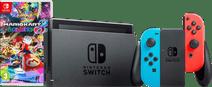 Nintendo Switch (2019 Upgrade) Rood/Blauw Mario Kart Bundel