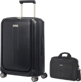 Samsonite Prodigy Spinner 55cm Black + Samsonite GuardIt 2.0