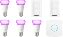 Philips Hue White & Color Kit de démarrage Lot de 5 E27 + 2 variateurs