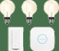 Philips Hue Ampoule à filament White Globe E27 Bluetooth Kit de démarrage