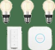 Philips Hue Ampoule standard à filament White E27 Bluetooth Pack de démarrage