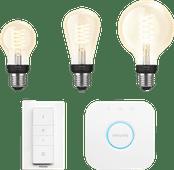 Philips Hue Ampoule à filament E27 White Bluetooth Pack de démarrage