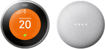 Nest Learning Thermostat V3 + Google Nest Mini Blanc