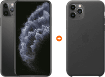 Apple iPhone 11 Pro Max 256 GB Space Gray + Apple iPhone 11 Pro Max Leather Back Cover