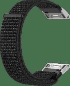 Just in Case Garmin Fenix 6/6 Pro Nylon Strap Black