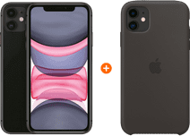 Apple iPhone 11 64 GB Zwart + Apple iPhone 11 Silicone Back Cover Zwart
