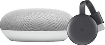 Google Nest Mini Wit + Google Chromecast 3