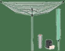 Brabantia Lift-O-Matic Séchoir Parapluie 50 mètres + housse de protection + sac pour pince