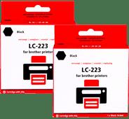 Pixeljet LC-223 Cartouches Noir Lot de 2