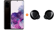 Samsung Galaxy S20 Plus 128GB Zwart 4G +  Samsung Galaxy Buds+ Zwart