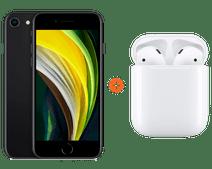 iPhone SE 64 Go Noir + Apple AirPods 2 avec boitier de charge