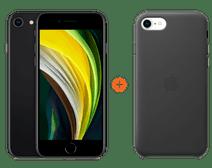 iPhone SE 128 Go Noir + Apple iPhone SE Back Cover Cuir