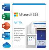 Microsoft 365 Family NL Abonnement 1 jaar