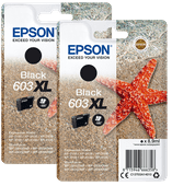 Epson 603XL Cartridges Zwart Duo Pack