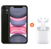 Apple iPhone 11 64GB Black + Apple AirPods 2 with charging case