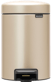 Brabantia NewIcon Pedaalemmer 3 Liter Champagne Vuilbak voor badkamer of toilet