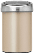 Brabantia Touch Bin 3 Liter Champagne