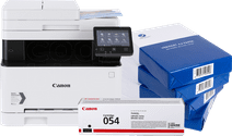 Canon i-Sensys MF643Cdw + black toner cartridge + A4 paper