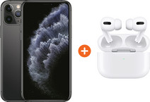 Apple iPhone 11 Pro 256 GB Space Gray + Apple AirPods Pro met Draadloze Oplaadcase