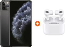 Apple iPhone 11 Pro Max 256 GB Space Gray + Apple AirPods Pro met Draadloze Oplaadcase