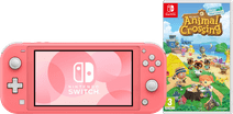 Nintendo Switch Lite Coral Animal Crossing Bundle
