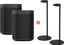 Sonos One SL Lot de 2 + Paire de supports Enceinte Sonos Noir