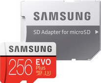 Samsung microSDXC EVO+ 256 GB 100MB/s CL 10 + SD adapter