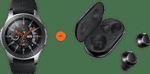 Samsung Galaxy Watch 46mm Silver + Samsung Galaxy Buds+ Black