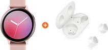 Samsung Galaxy Watch Active2 Rose Gold 40mm Aluminum + Samsung Galaxy Buds+ White