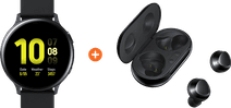 Samsung Galaxy Watch Active2 44 mm Aluminium Noir + Samsung Galaxy Buds+ Noir