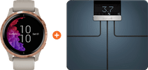 Garmin Venu - Rose Gold/Beige + Garmin Index Smart Scale Black