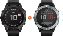Garmin Fenix 6X Pro - Zwart - 51 mm + Just in Case Fenix 6X Pro 51 mm Screenprotector