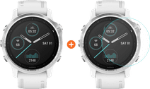 Garmin Fenix 6S - Wit - 42 mm + Just in Case Garmin Fenix 6S 42mm Screenprotector Glas