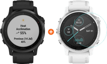 Garmin Fenix 6S Pro - Zwart - 42 mm + Just in Case Fenix 6S Pro 42mm Screenprotector