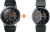 Samsung Galaxy Watch 46 mm Argent + PanzerGlass Samsung Galaxy Watch 46 mm Protège-écran