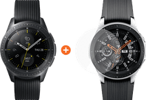 Samsung Galaxy Watch 42 mm Midnight Black + PanzerGlass Galaxy Watch 42 mm Protège-écran