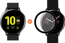 Samsung Galaxy Watch Active2 Zwart 44 mm Aluminium + PanzerGlass Active2 Screenprotector