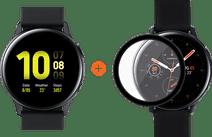 Samsung Galaxy Watch Active2 40 mm Aluminium Noir + PanzerGlass Active2 Protège-écran