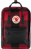 "Fjällräven Kånken Re-Wool 15"" Red-Black 18 L"