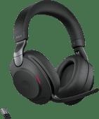 Jabra Evolve2 85 Link380a MS Stereo Stand Black